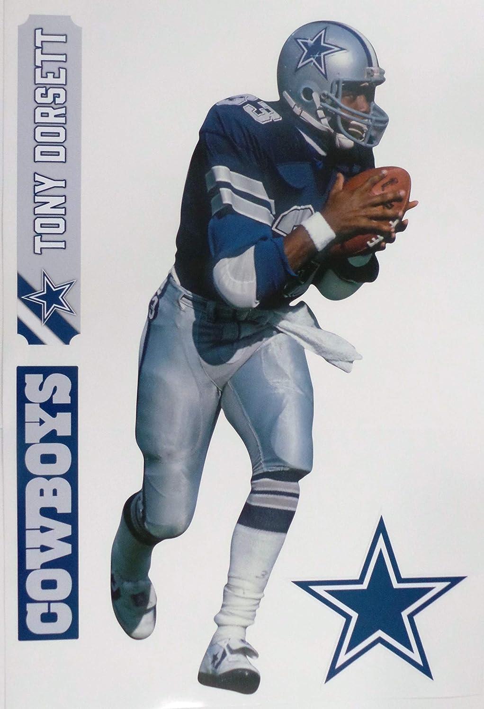 Tony Dorsett FATHEAD Graphic + Cowboys Logo Set Official Vinyl Wall Graphics 17