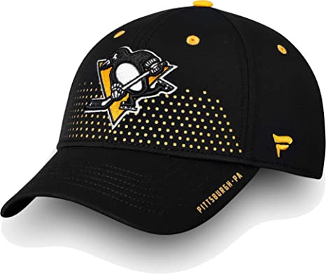 half off 1f4b5 f8ef3 Image Unavailable. Image not available for. Color  Football Fanatics NHL  Men s Pittsburgh Penguins 2018 NHL Draft Structured Black Flex Hat ...