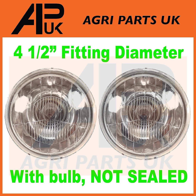 APUK 2 X Leyland Marshall 245 253 255 262 270 272 644 684 Tractor Headlamp Headlight Agri Parts UK Ltd