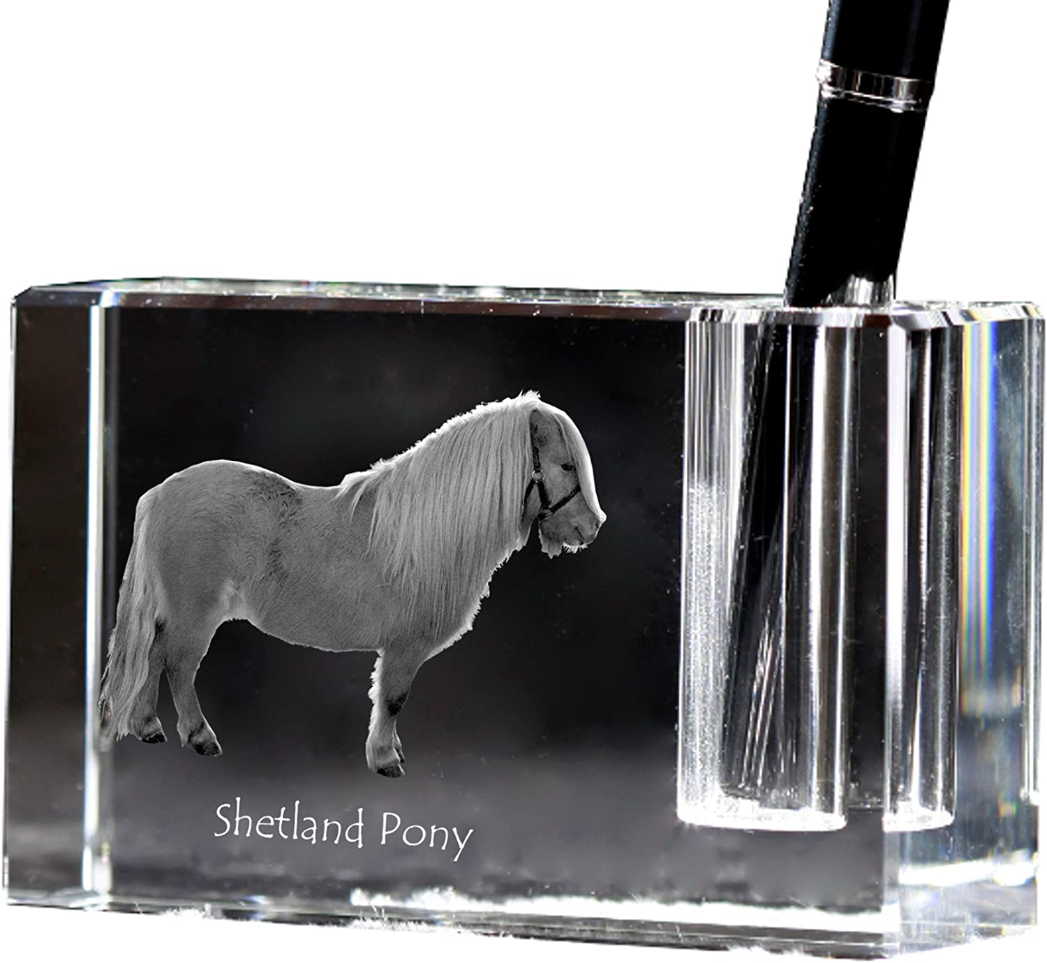 Shetland Pony Horse Crystal Keyring Keychain Art Dog Ltd Exceptional Gift