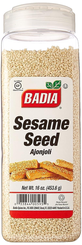 Badia Sésamo semillas hulled 16 oz: Amazon.com: Grocery ...