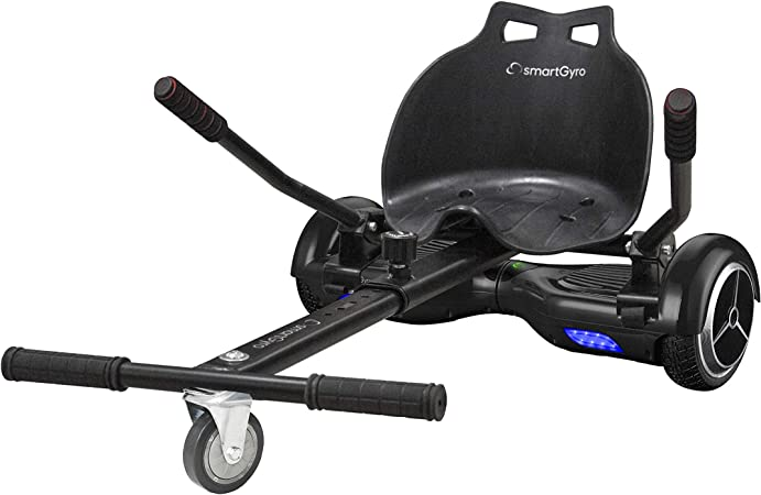SMARTGYRO Go Kart Pro Black - Asiento Kart para patín eléctrico, Convierte tu Hoverboard en un Kart, Universal, Color Negro: Amazon.es: Deportes y aire libre