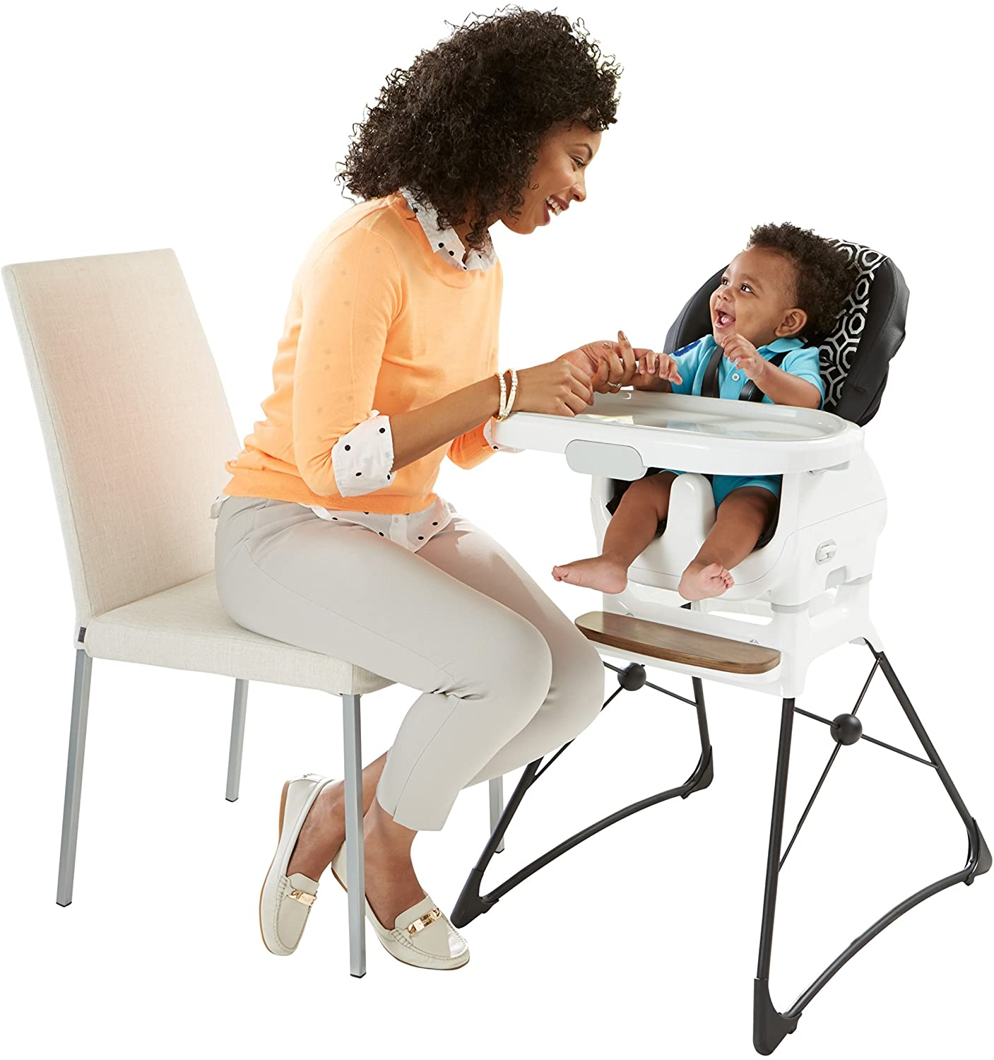 Fisher-Price Jonathan Adler Deluxe High Chair, Black White