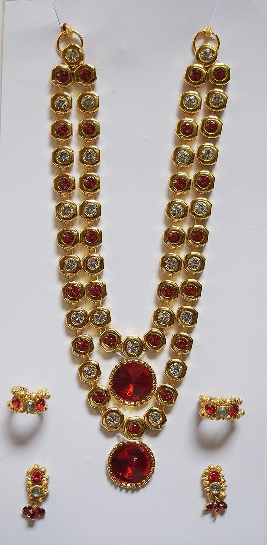 9 Handmade Red /& Golden Bal Krishna//Ganesh Ornaments for 6 To 10 Laddu Gopal Idol