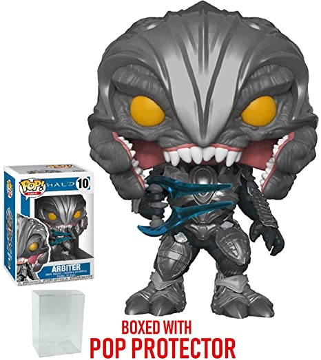 f1ea732b561 Image Unavailable. Image not available for. Color  Funko Pop! Games  Halo -  Arbiter Vinyl Figure (Bundled with Pop Box Protector