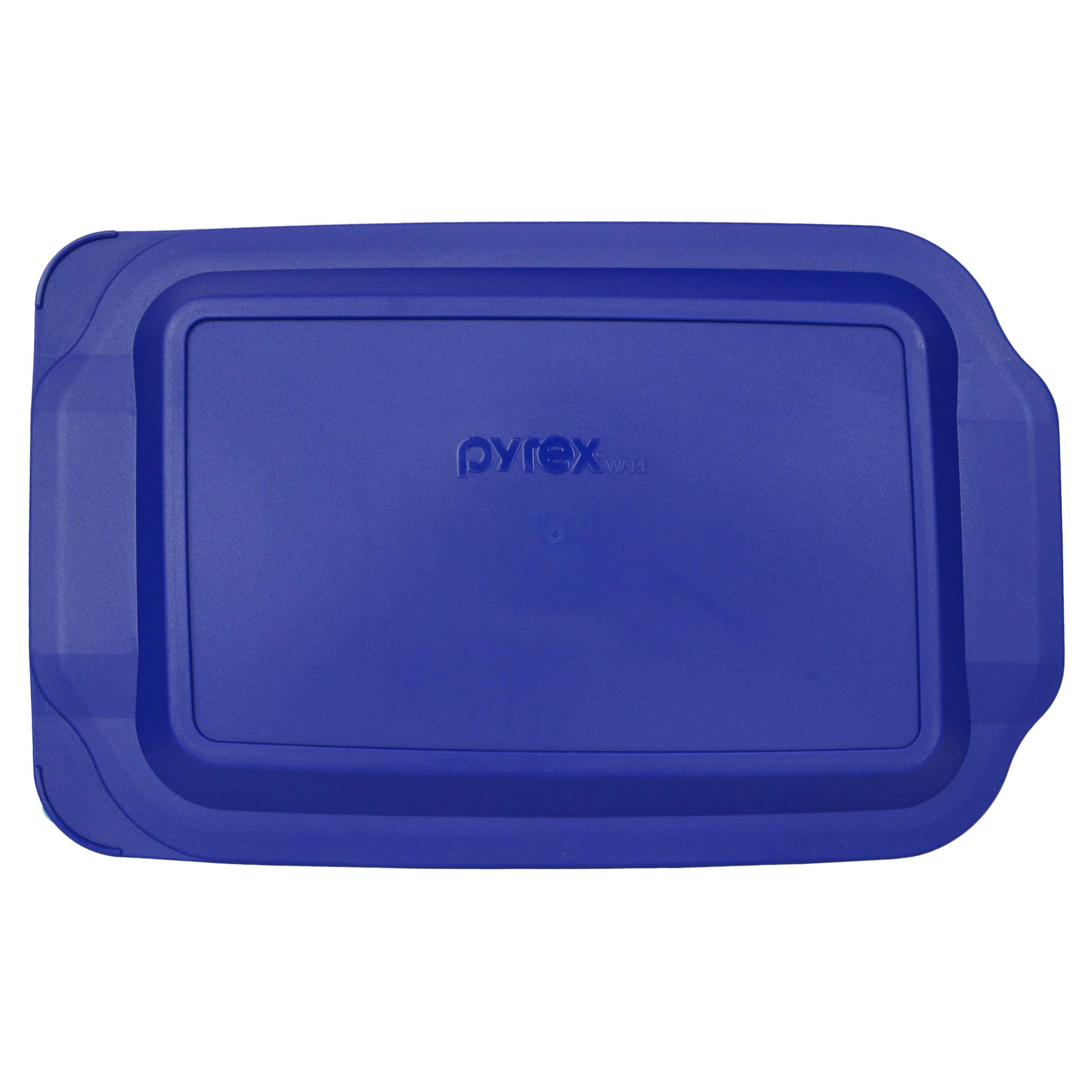 Pyrex 233-PC 3 Quart Blue 9'' x 13'' Baking Dish Lid - Will NOT Fit Easy Grab Baking Dish