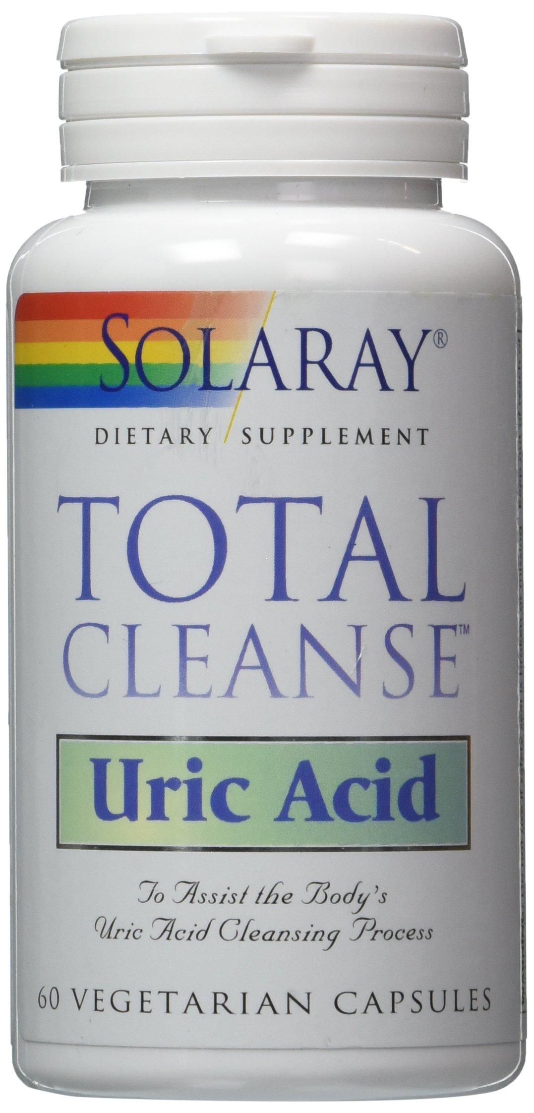 SOLARAY TOTAL CLEANSE URIC ACID 60 Vegetarian Capsules