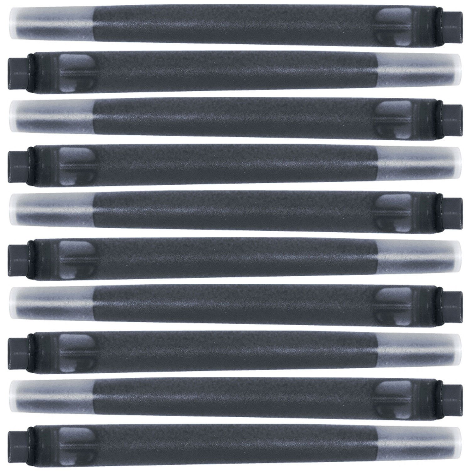 Parker Quink Permanent Ink Fountain Pen Refill Cartridges, 10 Black Ink Refills (3011031PP) by Parker