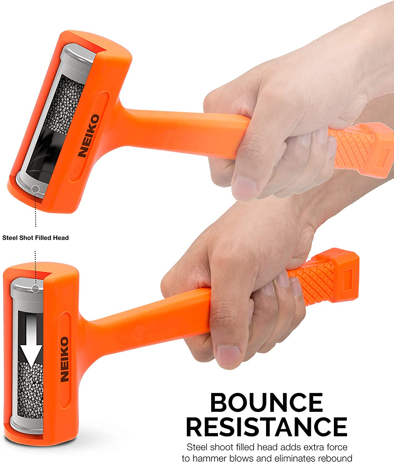 Neiko 02847a 2 Lb Dead Blow Hammer Neon Orange I Unibody Molded Checkered Grip Spark And Rebound Resistant Amazon Com Shop with confidence on ebay! neiko 02847a 2 lb dead blow hammer neon orange i unibody molded checkered grip spark and rebound resistant