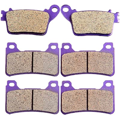 ECCPP FA436 Brake Pads Front and Rear Carbon Fiber Replacement Brake Pads Kits Fit for 2006-2011 Honda CBR1000RR,2007-2011 Honda CBR600RR: Automotive