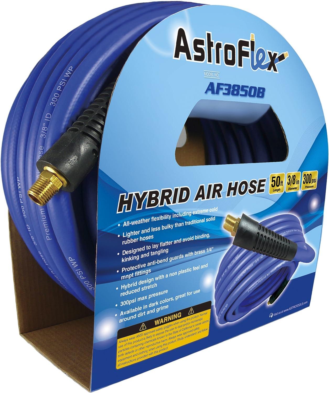 3//8 x 50 Astro AF3850B Astroflex Hybrid Air Hose Blue 3//8 x 50/' Astro Pneumatic Tool Company