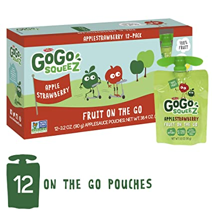 GoGo Squeez applestrawberry applesauce on the go, 3,2 oz, 12 ...