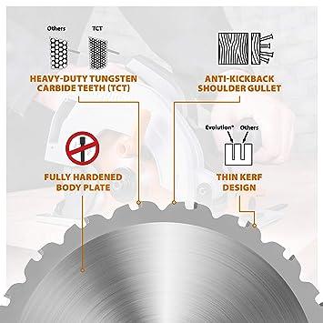 Evolution RAGEBLADE355MULTI Power Tools-Rage Mehrzweck-S/ägeblatt mit Wolframkarbidbeschichtung 355 mm