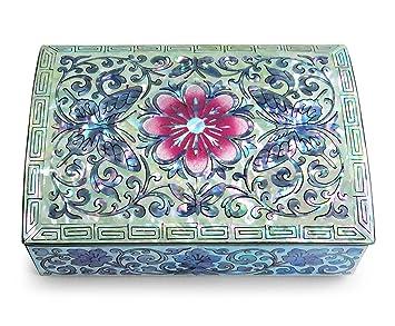 Amazoncom Jewelry Trinket Box Mother of Pearl Inlay Small Wood