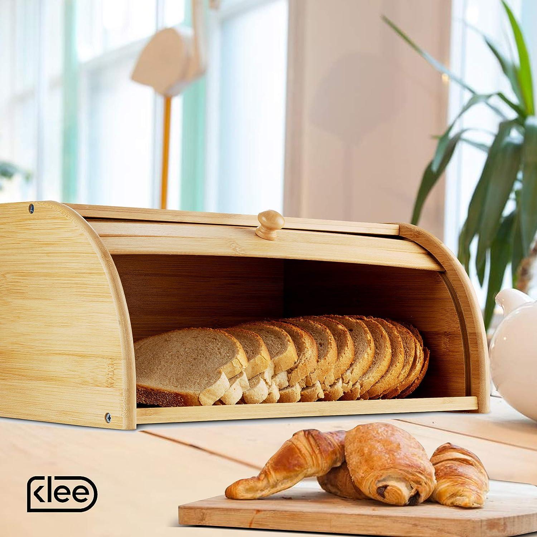 Klee Utensils Rolltop Bamboo Bread Storage Bin