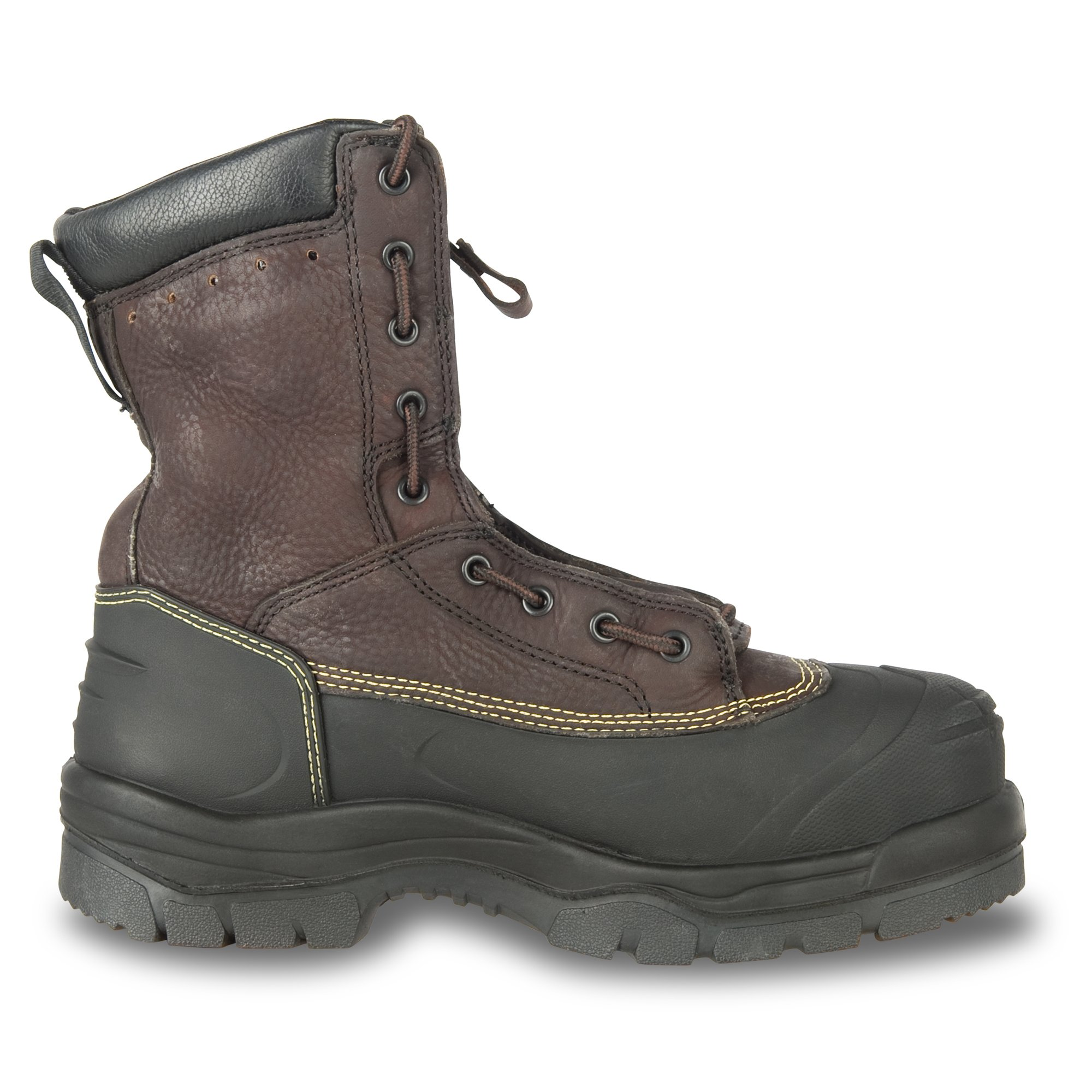 Oliver 65 Series 8'' Leather Chemical-Resistant Steel Toe Lace-In Zipper Men's Metatarsal Boots, Brown (65392) by Honeywell (Image #6)
