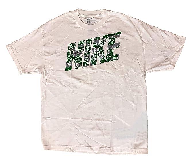 estremamente unico orologio molti alla moda Nike Sportswear Mens Loose Fit T-Shirt (Extra Large, White/Green ...