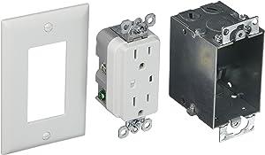 Legrand - On-Q 36456902V1 Duplex Outlet Kit, Surge Protected