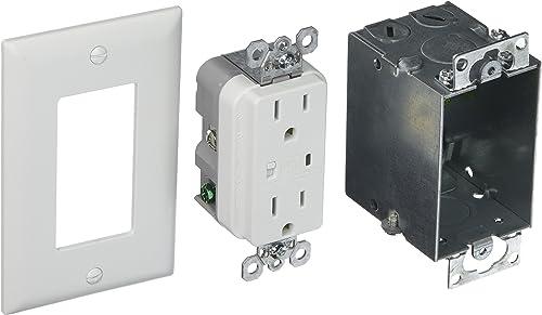 Legrand – On-Q 36456902V1 Duplex Outlet Kit, Surge Protected