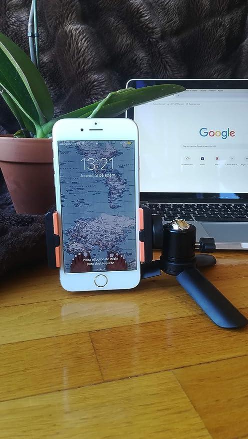 Mini Trípode Soporte Universal con Clip Adaptador 360° para Móvil Smartphone y Cámara Digital/Acción Cuerpo Aluminio 360°: Amazon.es: Electrónica