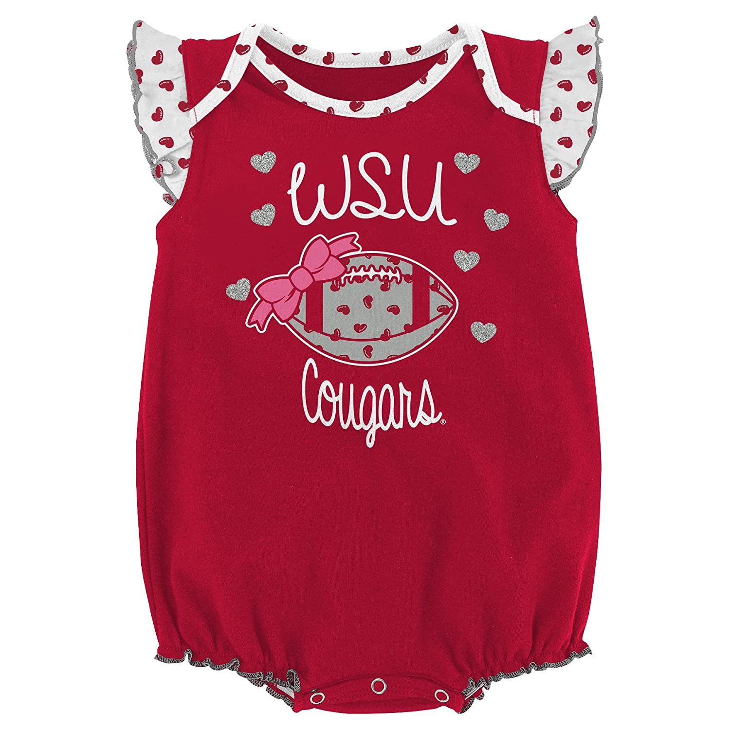 Amazon Gen 2 NCAA Newborn Heart Fan 2Piece esie Set Sports