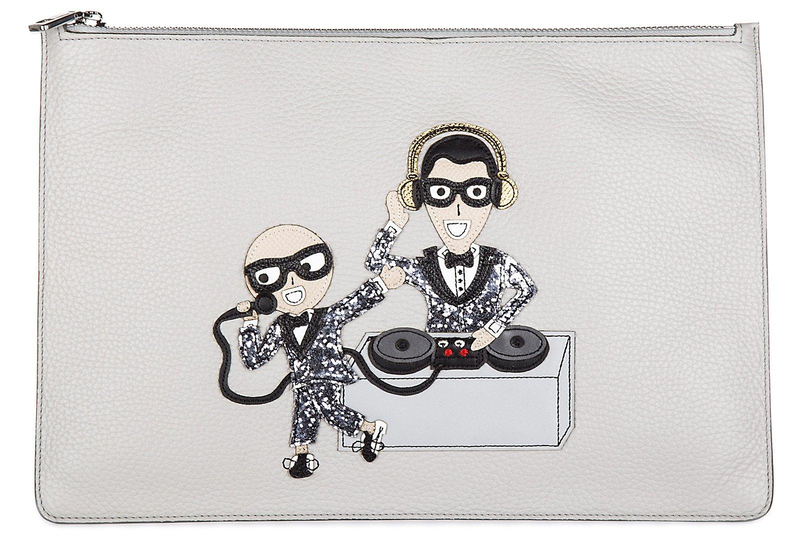 Dolce&Gabbana men's travel document passport case holder grey