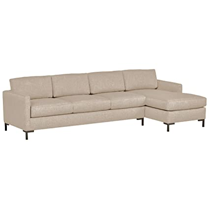 Fine Rivet Edgewest Low Back Modern Right Chaise Sofa Sectional 115W Grey Linen Ocoug Best Dining Table And Chair Ideas Images Ocougorg