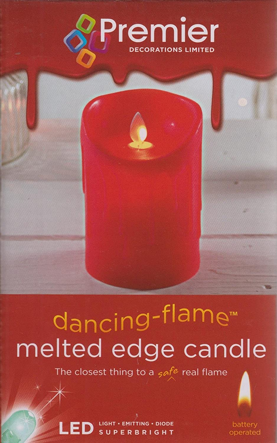 CREAM PREMIER 13CM DANCING FLAME CANDLE
