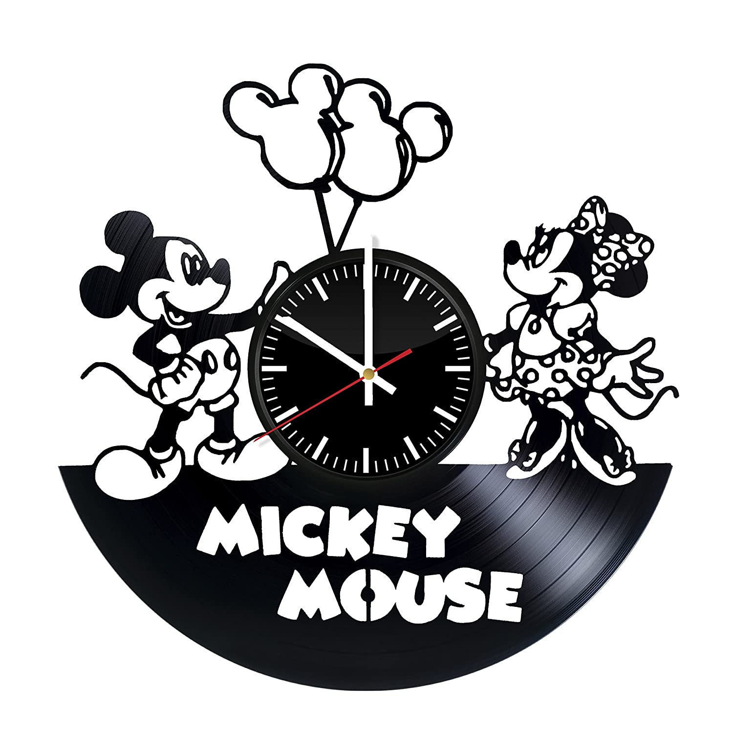 Amazon.com: Mickey Mouse Vinyl Record Wall Clock . Get unique home room wall art decor. Cool gift ideas for boys, girls, kids, teens, men and women.