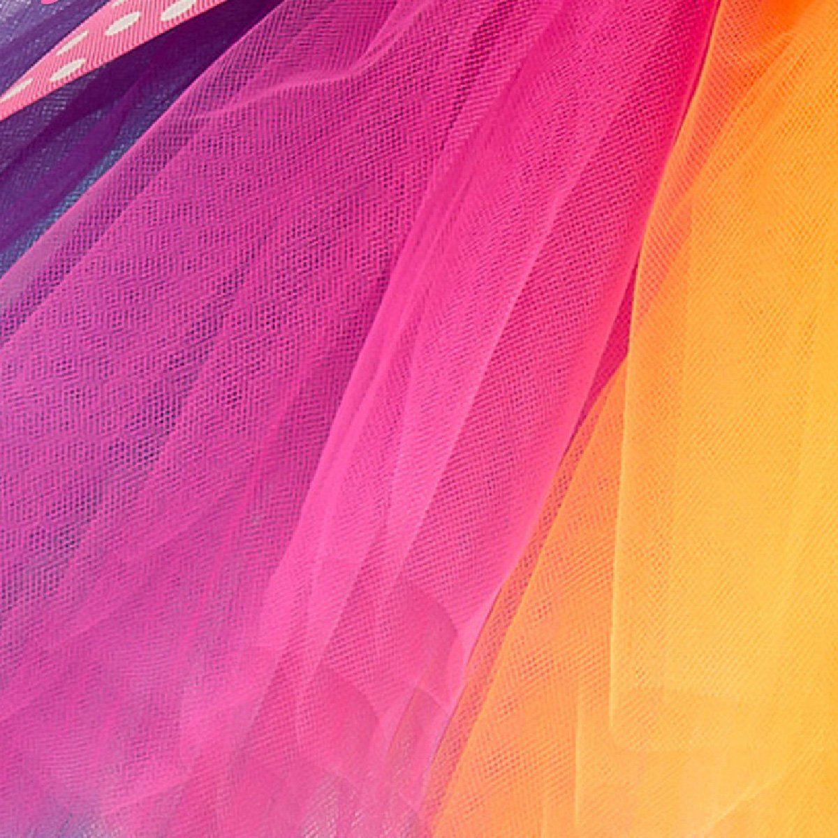 Monalia Flower Girl Crinoline Ballet Tutu Skirt Petticoat Rainbow Knowbot MPC18