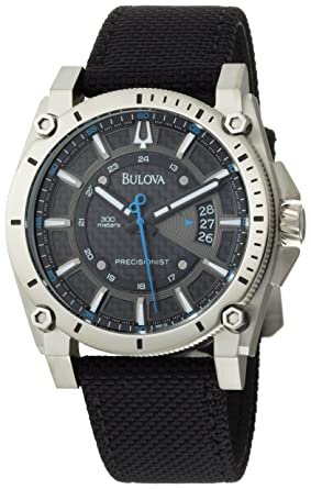 e0e578cd7 Image Unavailable. Image not available for. Color: Bulova Men's 96B132  Precisionist Champlain Charcoal Dial Black Strap Watch