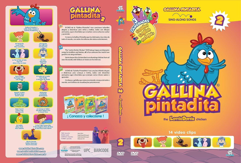 Amazon.com: Combo Pack: Lottie Dottie Chicken Plush Toy + DVDs Multi-language Vol. 1 + 2 + 3: Toys & Games