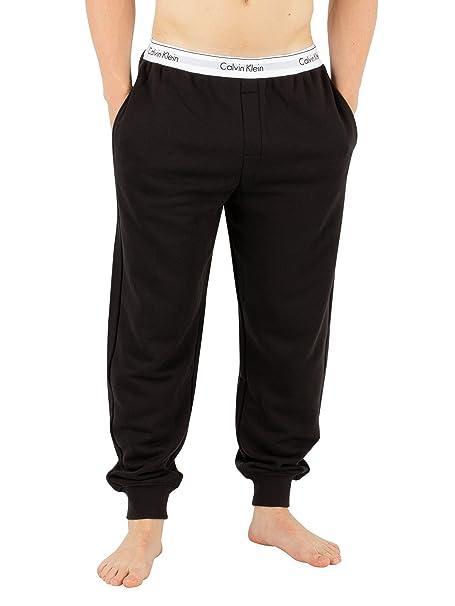 Calvin Klein Hombre Pantalones de pijama de cintura pretina de marca, Negro: Amazon.es: Ropa y accesorios
