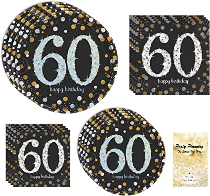 Amazon.com: 60th fiesta de cumpleaños de alimentación Pack ...