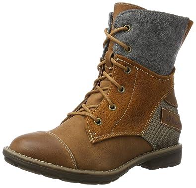 s.Oliver Mädchen 45201 Combat Boots, Braun (Cognac), 31 EU