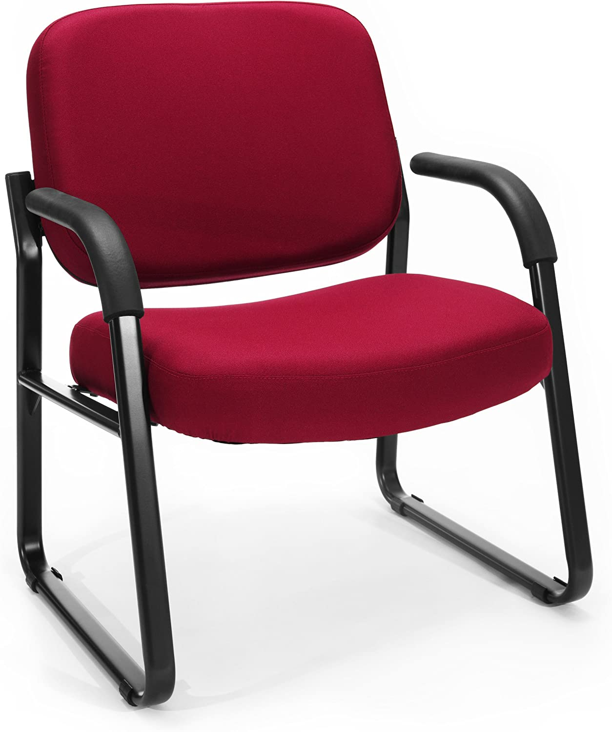 OFM Core Collection Big and Tall Guest and Reception Chair with Arms, in Wine