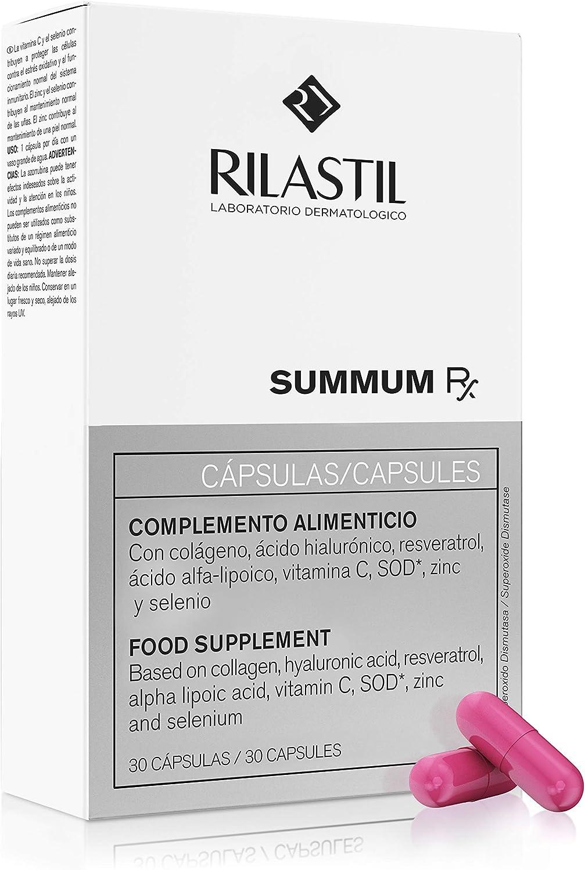 Rilastil Summum RX - Complemento Alimenticio Antioxidante y Antiedad que Previene el Envejecimiento Cutáneo, 30 cápsulas