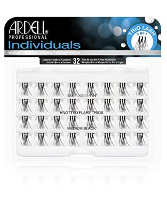 9fb93a18ec7 Amazon.com : Ardell Individual Trios Eyelash, Black, Medium : Beauty