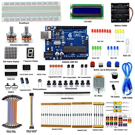 amazon com adeept super starter kit for arduino uno r3 lcd1602 rh amazon com arduino uno manual reset arduino uno manuale italiano
