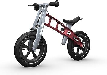 FirstBIKE - Bicicleta de Equilibrio con Freno, Modelo Racing, Color Rojo (L2008): Amazon.es: Juguetes y juegos