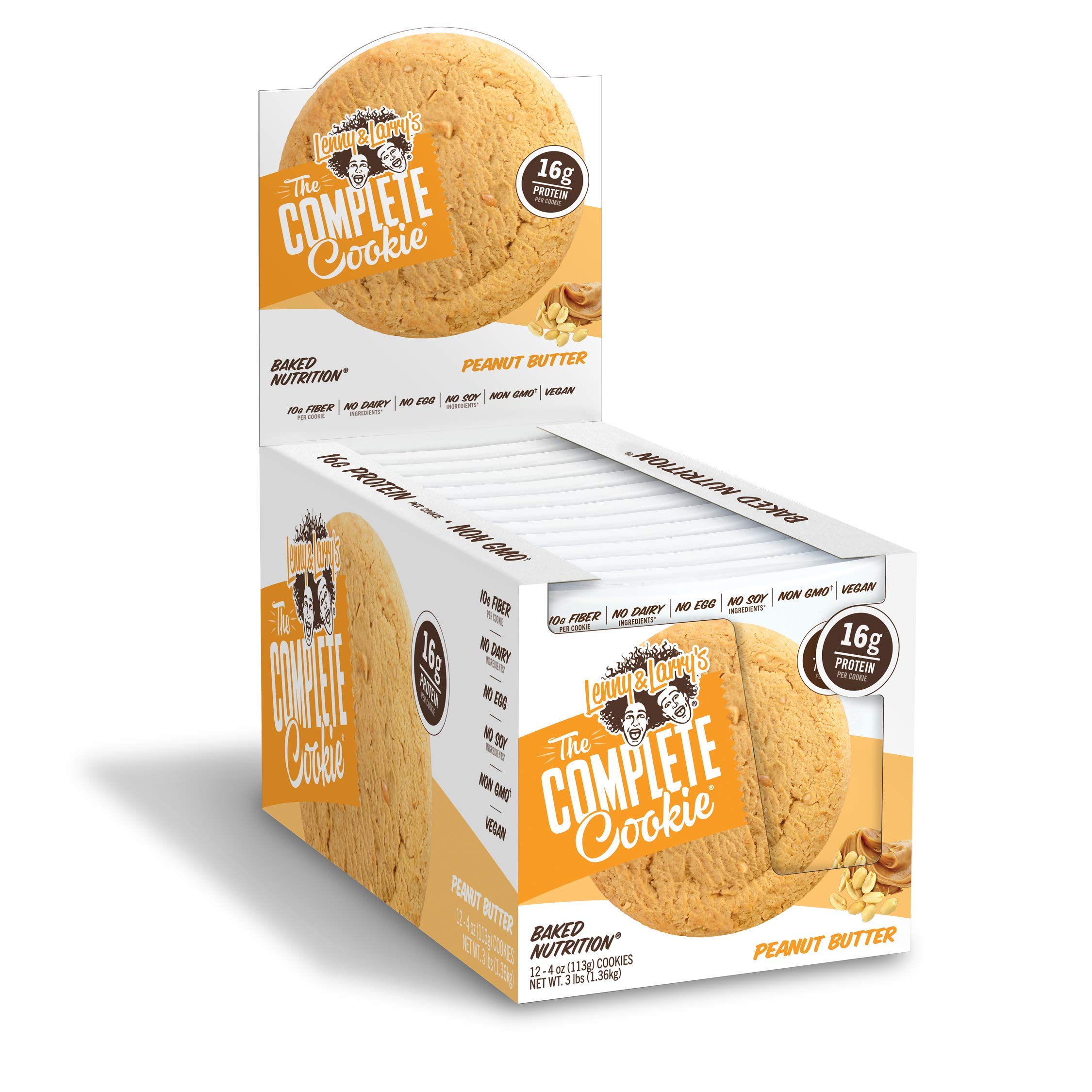Lenny & Larry's Complete Cookie 4 oz Pack of 12 Case of 6 (Peanut Butter) by Lenny & Larry's Complete Cookie (Image #2)