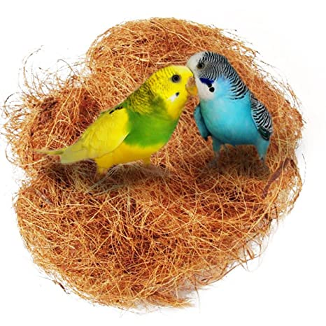 ueetek nido de pájaros Nest de nuez de coco conjunto de jaula de ...