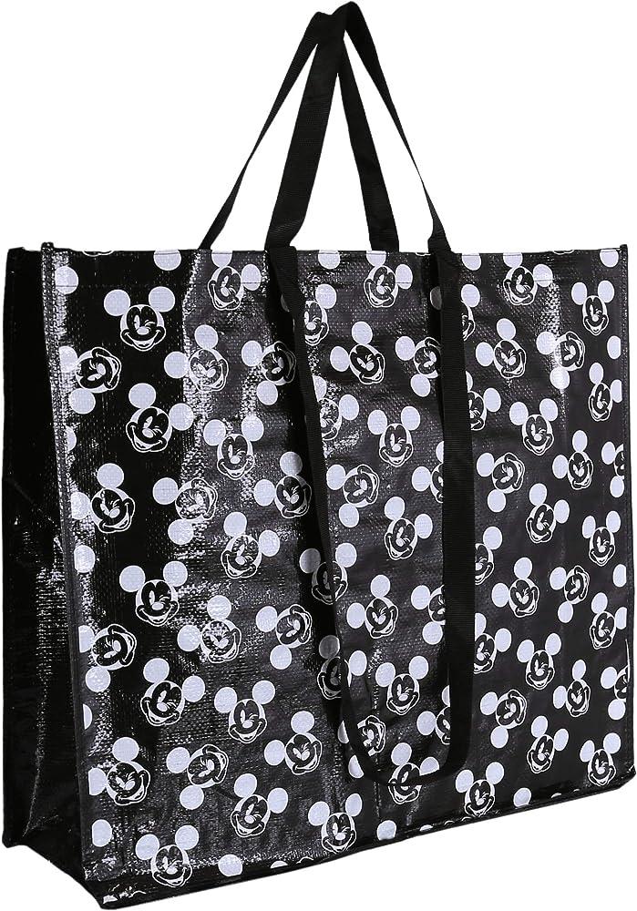 Una peque/ña bolsa reutilizable de Mickey Mouse.