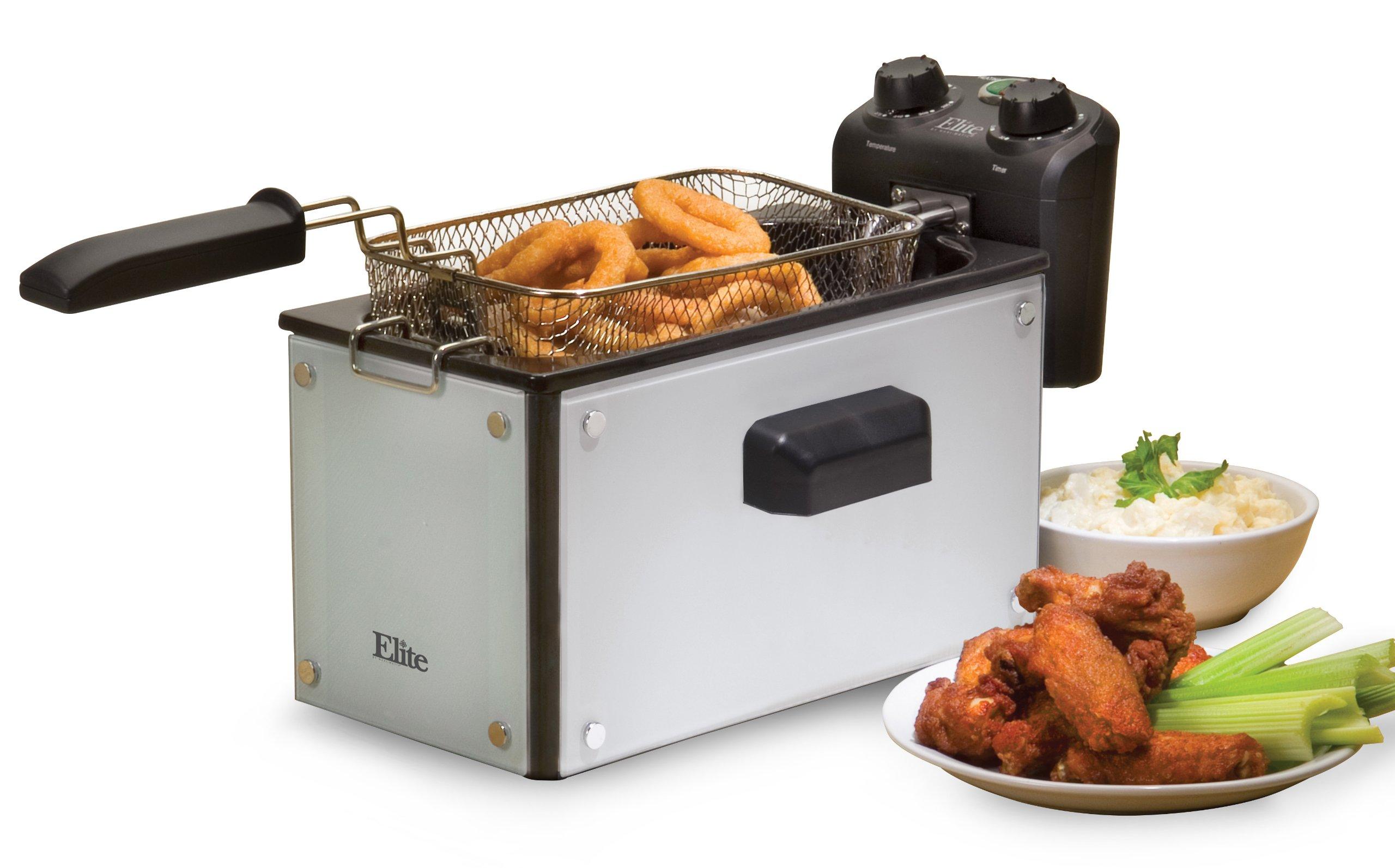 Elite Platinum EDF-3500GW Maxi-Matic 3.5 Quart Deep Fryer, White