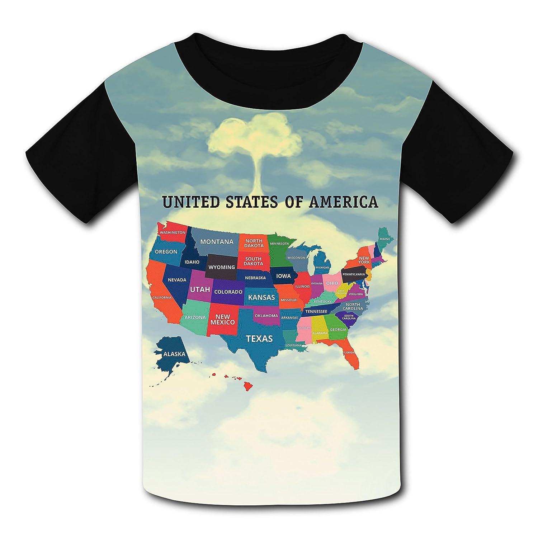 Discount bm-hgkjh21 Magic U.S. Map Design Sleeve T-Shirt Fashion Styles Tee Shirt supplier