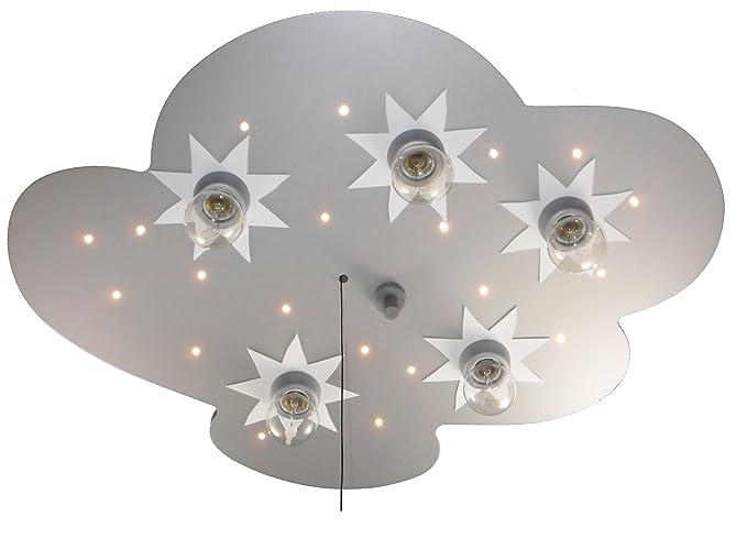Niermann Standby 667 - Lámpara de techo LED con 5 puntos de luz (5 bombillas