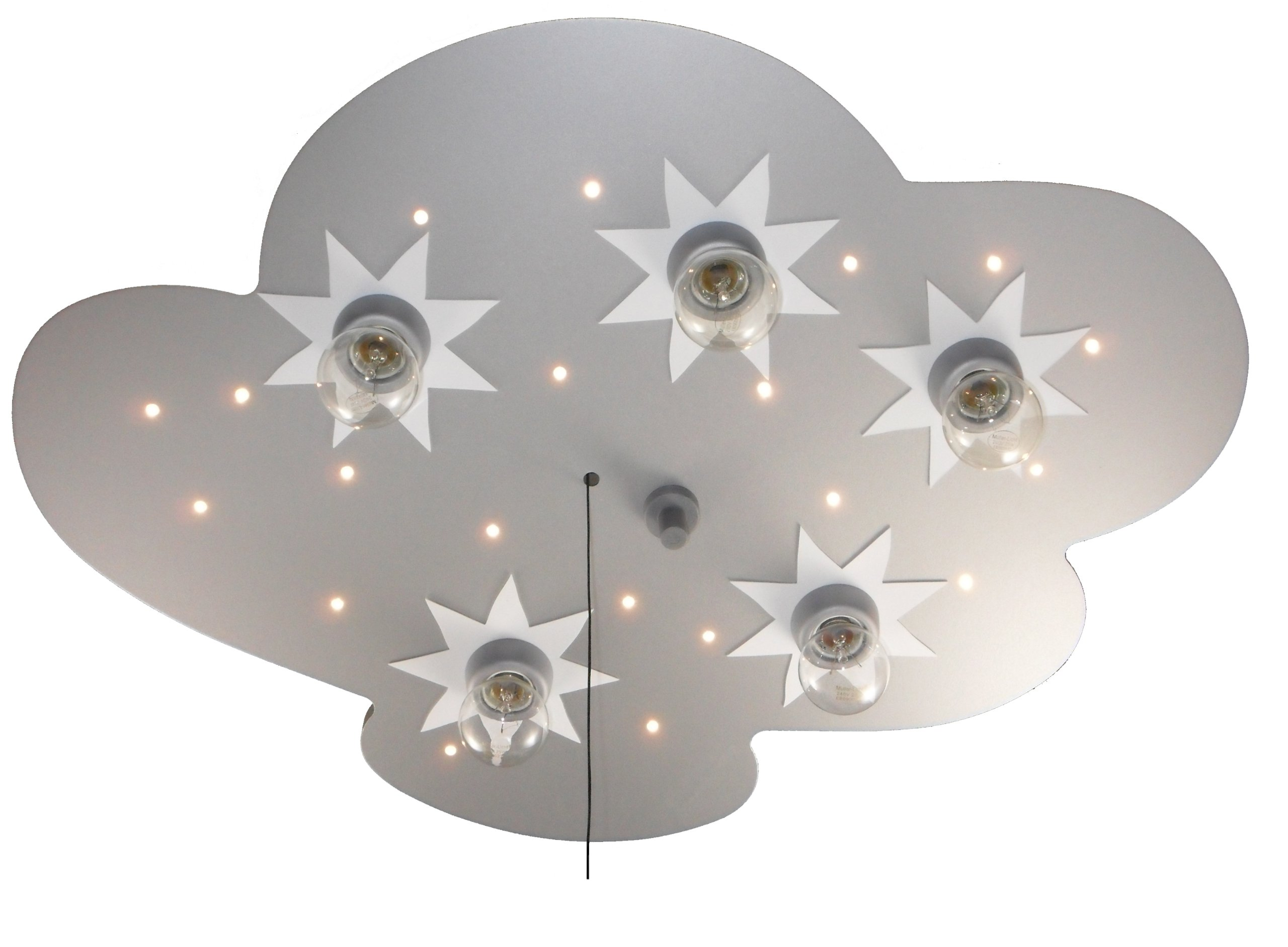 Niermann Standby LED Ceiling Lamp Cloud, Silver Stars