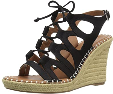 c0024d61b9a Sugar Women s Espadrille Wedge Sandal with Lace-Up Ghillie