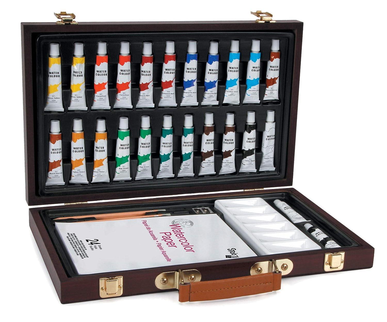 Studio 71 30063143 Getting Started Watercolor, 34 Pieces Art Set, Starter Darice