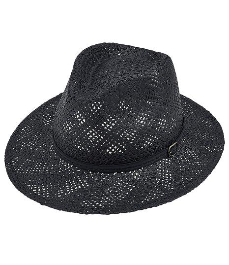 EveryHead Fiebig Ladies Paper Hat Summer Coneflower Panama Raffia Straw  Fashion Brand One-Tone for ae99a6baa2e6